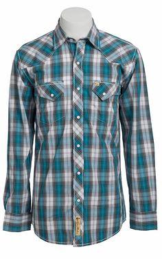 Larry Mahan Mens Long Sleeve Western Snap Shirt Work Shirts, Jean Shirts, Denim Shirt, Western Shirts, Western Outfits, Western Wear, Cowboys Shirt, Jean Outfits, Man Shop