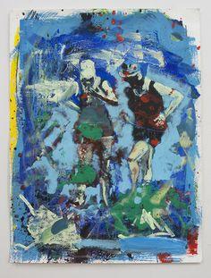Couple, acrylic on paper, 61x46cm, 2014 | Artwork by Bartosz Beda