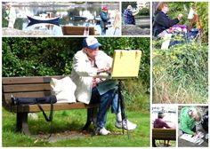 Al Frescoes plein air painters of Victoria painting out at Oak Bay Marina on Sept 20, 2013. More at ALFs' site: http://www.alfrescoes.com