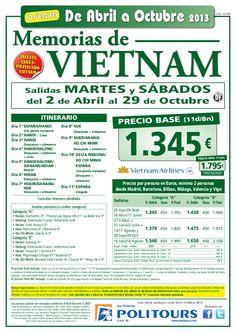 VIETNAM Memorias, sal. 30/07 al 29/10 desde mad, bcn, bio, agp y vlc (11d/8n) p.f. 1.795€ - http://zocotours.com/vietnam-memorias-sal-3007-al-2910-desde-mad-bcn-bio-agp-y-vlc-11d8n-p-f-1-795e-2/