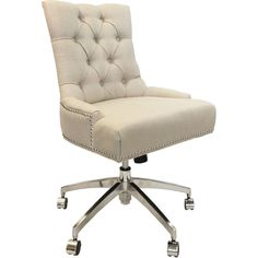 ballard designs pennington desk chair with brass nailheads ($699