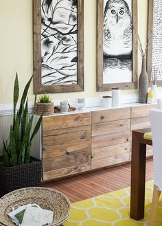 Transform your dresser or console with this reclaimed wood hack and instantly upgrade your piece from IKEA to West Elm.