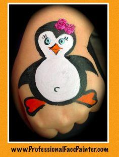 Penguin Face Painting   #NewportBeach #Newport #Socal #oc #party