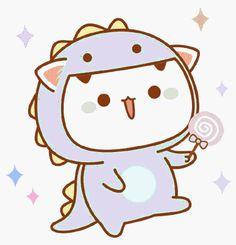 Baby Art Drawing Animals Ideas For 2019 Chibi Cat, Cute Chibi, Cute Cartoon Images, Cute Cartoon Wallpapers, Cute Animal Drawings, Kawaii Drawings, Drawing Animals, Cute Love Gif, Kawaii Doodles