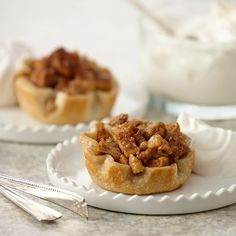 Mini pies are ideal when you are entertaining a crowd. You can prepare them a day ahead, fill with a variety of fillings and no slicing is needed.