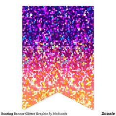 Bunting Banner Glitter Graphic