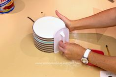 Jessicakes: How to make a horizontal stripe cake