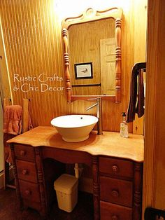Budget Cabin DIY Bathroom Vanity