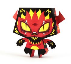 Blog Paper Toy papertoys Little Evil Red pic Papertoys Little Evil de Tougui (x 4)