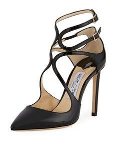 JIMMY CHOO LANCER PATENT 100MM PUMP. #jimmychoo #shoes #
