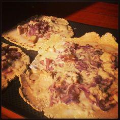 petite #flammekueche #vegan et #glutenfree à la #farinedepoischiche et #crèmederiz