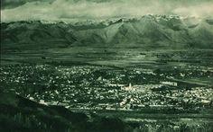 Vista aérea de Santiago, específicamente la comuna de Providencia en 1932. Fotografía tomada desde el avión del Capitán Alfred Buckham, miembro del Servicio Real Aéreo Inglés.