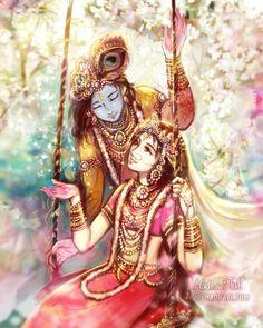 😍😘Krishna Ji and Radha Ji😍❤ Krishna Leela, Cute Krishna, Radha Krishna Photo, Krishna Radha, Radha Rani, Hanuman, Lord Krishna Images, Radha Krishna Pictures, Krishna Photos