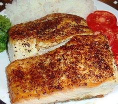Pan Seared Wild Alaska King Salmon (one white and one red fillet cooked to perfection) Recipe...