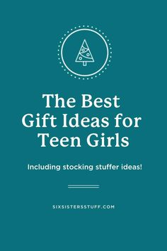 Shopping for a teen girl? We rounded up all the best gifts for your teen girl for her birthday or Christmas (including stocking stuffer ideas!). Kids Stockings, Cool Gifts For Teens, Six Sisters, Get Gift Cards, Daughter Love, Daughters, Cool Socks, Creative Gifts, Travel Size Products