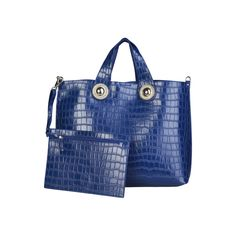 ᐧ -Shopping Bag of eco-leather, 2 handles, removable shoulder strap- Magnetic fastening- Inside: removable clutch Dust bag included- Dimensions: Size: NOSIZE Color: Blue Made In: Italy Shipped From:. Versace Jeans, Blue Bags, Shopping Bags, Dust Bag, Shoulder Strap, Jeans Women, Leather, Products, Fashion