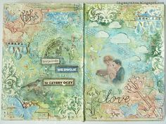 Art Journal, mixedmedia, altered book,