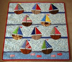 I love this quilt. Imagine snuggling under it on a winter night? Dreams of warm summer breezes as you drift off to sleep.