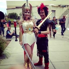 She-Ra and Rufio, from SDCC 2014.