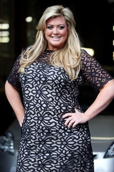 townies Gemma Collins notice that the color combo and the design create a more horizontal effect that takes an eye off Gemma's face..tip