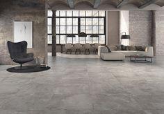 Tundra Collection: Porcelain floortile inspired by a nice stone. #floortile #tile #porcelain #pavimento #livingroom #salon #loft #stone #piedra #decoration #decoracion #inspiracion #style #industrial #tundra #argenta #friendlytile