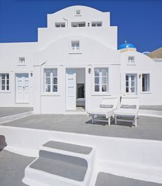 Elegant simplicity and can be found throughout the Canaves Oia Villa unique accommodation