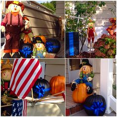 Thin Blue Line Pumpkins! #BlueLivesMatter