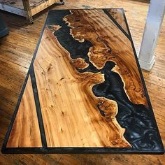 Security Check Required – Woodworking ideas – New Epoxy Epoxy Wood Table, Epoxy Resin Table, Wood Table Design, Rustic Design, Diy Resin Crafts, Wood Crafts, Resin Furniture, Diy Wood Projects, Decoration