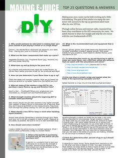 E-juice DIY | VAPE News Magazine