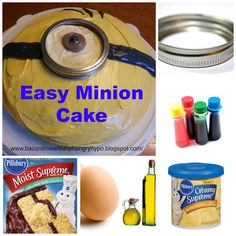 Bacon Time With The Hungry Hungry Hypo: Easy Minion Cake and Minion Nails