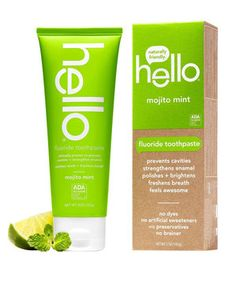 Who needs a nightcap when your toothpaste tastes just as good as a mojito? This lime and mint flavored toothpaste not only tastes delicious, but it's also good for you. You can smile knowing it's made without triclosan (a chemical that's been linked to detrimental health and environmental effects), preservatives, artificial sweeteners, and dyes.