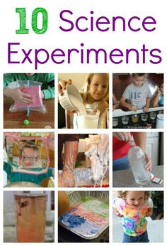 10 Hands On Science Experiments for Kids!