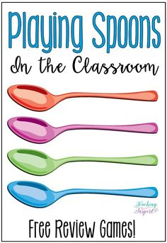 English Language Arts If you have every played Spoons, then you know how fun and engaging that game is. Have you ever thought about playing Spoons in . School Classroom, School Fun, Fun Classroom Games, Middle School Games, School Ideas, Primary School Games, Creative Classroom Ideas, High School Activities, Classroom Procedures