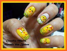 easter chick #nail #nails #nailart