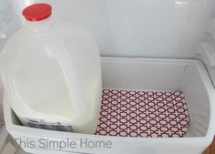 This Simple Home - keep your fridge clean with Fridge Coasters