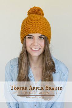 Hopeful Honey | Craft, Crochet, Create: Toffee Apple Pompom Beanie - Free Crochet Pattern...