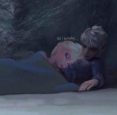 Jack Frost and Elsa | Jackelsa sleeping - elsa-and-jack-frost Photo