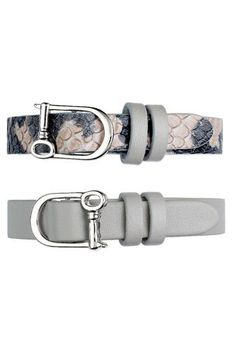 They're collectible, wrappable, and available in an enchanting of array of neutrals, metallics, textures and prints. Leather Keepers are like two bracelets in one, and perfect for sliding on your favorite, interchangeable keys.