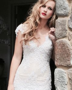 """Model Steph in """"Lauren"""" from the Pretty n' Pink Collection ❤️ Lace Wedding, Wedding Dresses, Wedding Inspiration, Bridal, Pretty, Model, Pink, Collection, Fashion"""