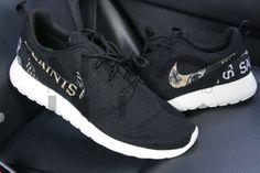New Orleans Saints Nike Roshe One Run Black Custom Men Women