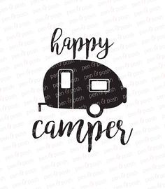 Happy Glamper SVG File Camper Cricut By SVGOriginalsLLC