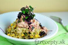 Vynikajúca quinoa s bazalkovým pestom a tuniakom, vhodná ako zdravá večera či zdravý obed.