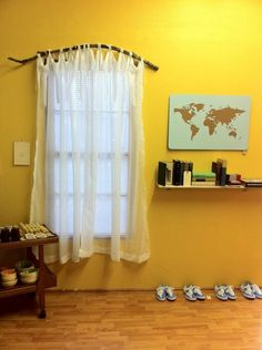 Love the branch for a curtain rod, see how the curtain is hemmed to be straight at the bottom. Description from pinterest.com. I searched for this on bing.com/images