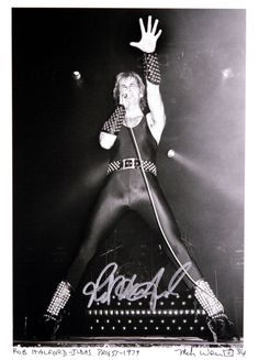 """Rob Halford of Judas Priest- 1979  A note from Mark Weiss: """"The first time I shot Rob Halford of Judas Priest was November 3, 1979 at the Capitol Theatre in Passaic, New Jersey during the Killing Machine/Hell Bent For Leather Tour."""""""