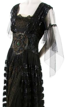 Black Tulle and Sequin Dress, circa 1920