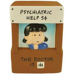 Peanuts Lucys Psychiatrist Booth 11-Inch Cookie Jar by Westland Giftware,