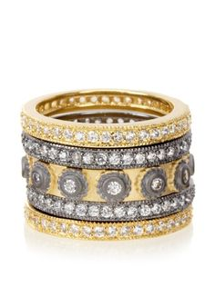 Mixed Stackable Eternity Band Set of 5 Rings