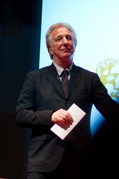 Alan Rickman with my Hogwarts letter. <--- Pinned for this comment!!!