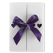Ribbons Invitation (purple) by Bride & Groom Direct - Available through the Wedding Heart website: http://www.weddingheart.co.uk/bride-and-groom-direct---wedding-invitations.html
