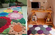 Tapete de Barbante passo a passo (Com gráficos e moldes!) Owl Rug, Crochet Squares, Kids Rugs, Home Decor, Jeans, Crochet Rug Patterns, Rag Rugs, Trapillo, Report Cards